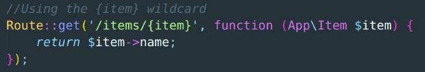 Using {item} wildcard