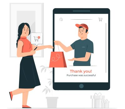 Icon of purchasing was successful on eCommerce website