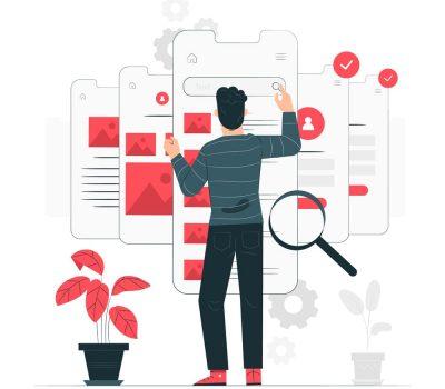 Web designer develop web applications